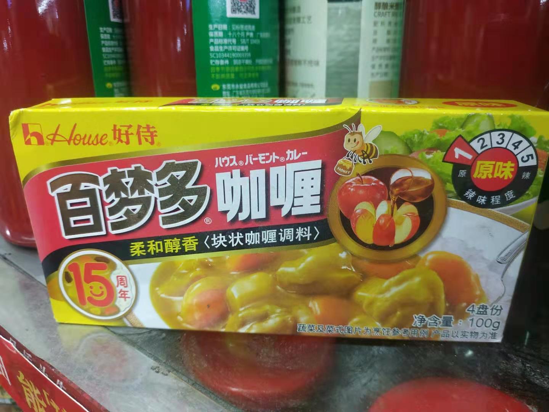 实体批发好待百梦多咖喱-100g*10盒连锁供应报价89.00元