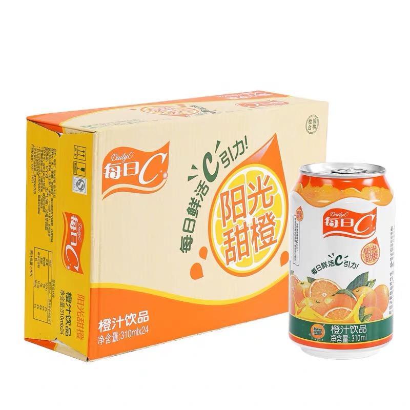 实体批发康师傅橙汁每日C-310g*24瓶连锁供应报价41.00元